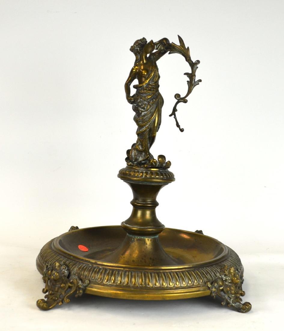 French Bronze Figural Centerpiece