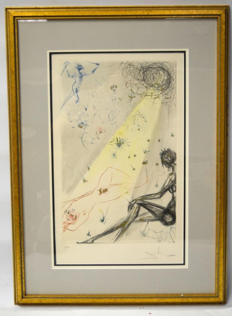 Salvador Dali Lithograph (Reclining Nude)