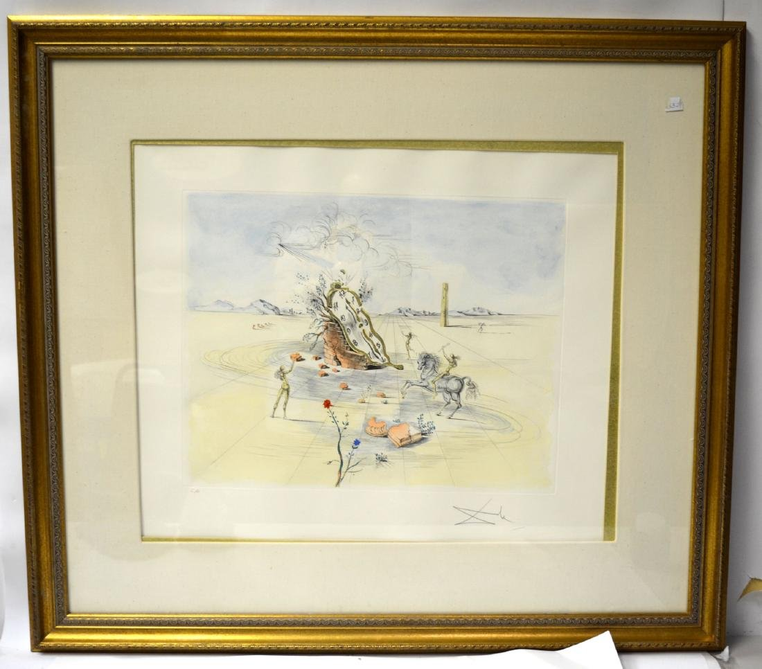Salvador Dali Aquatint Pencil Lithograph