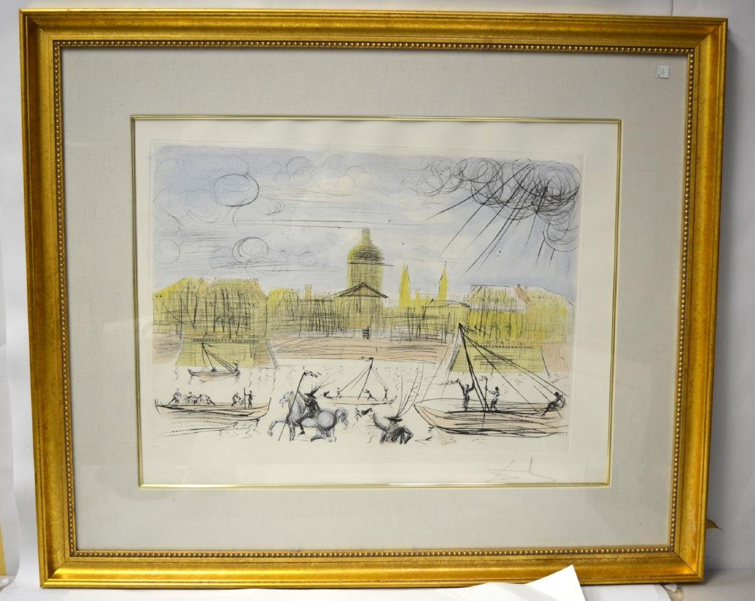 Salvador Dali Aquatint Pencil Lithograph (Venice)