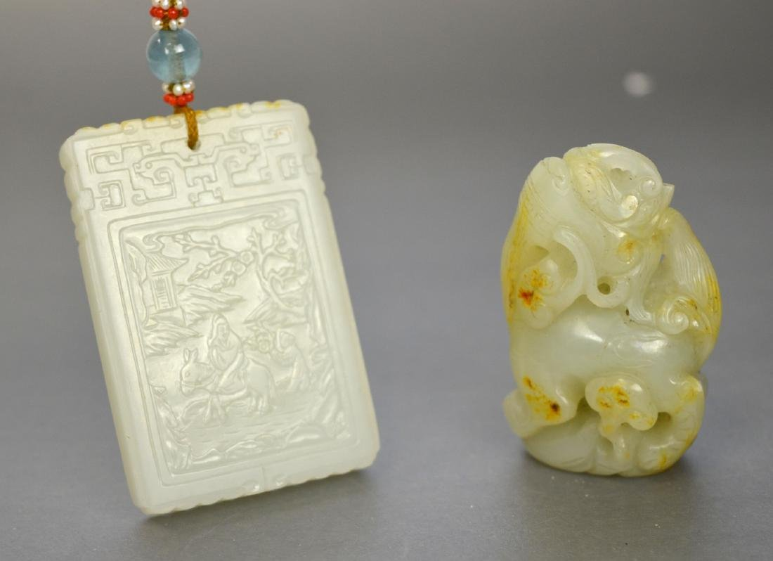Two Chinese White Jade Carvings