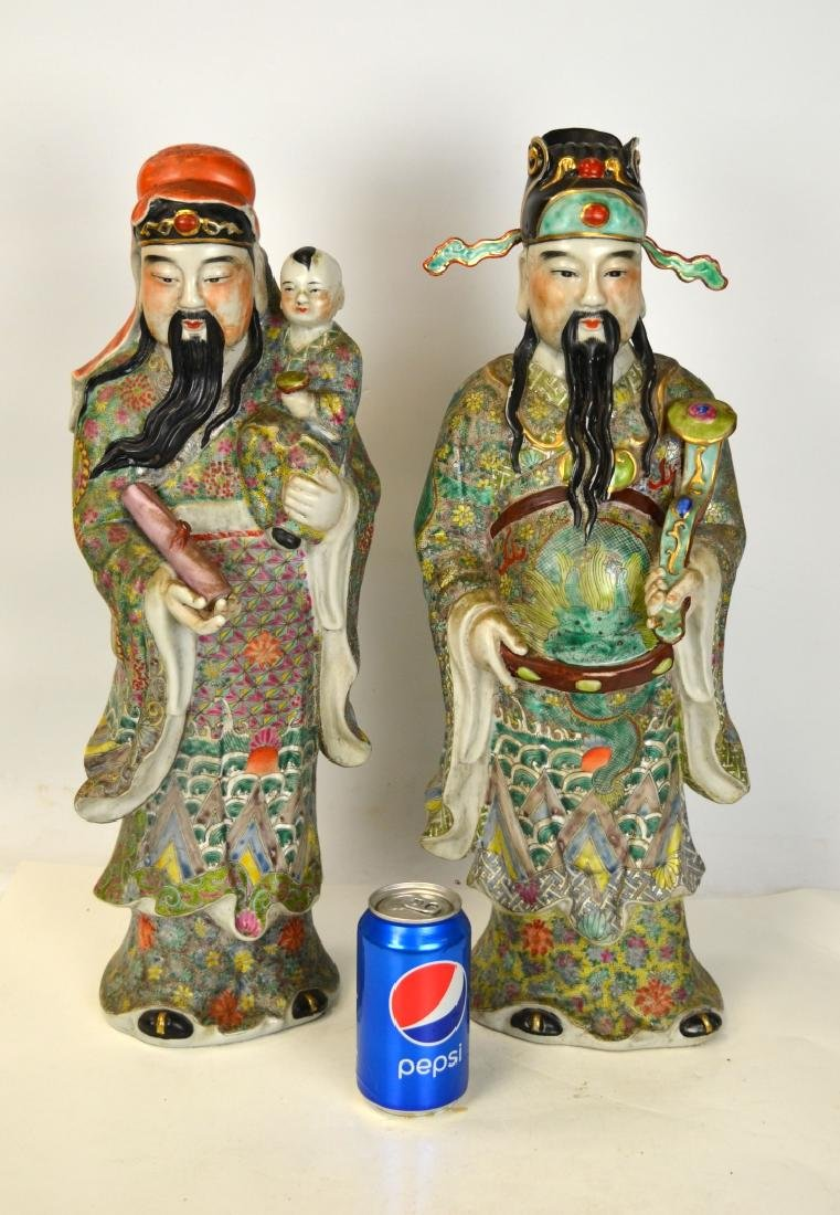 Two Large Chinese Porcelain Figures