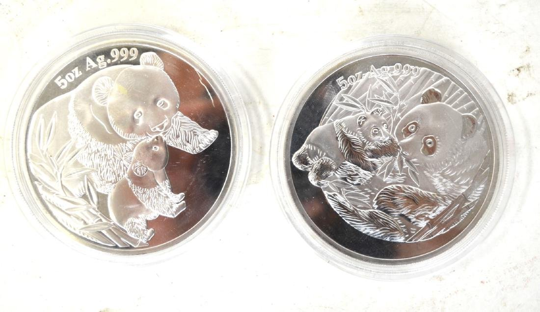 Two Chinese Silver Panda Coins