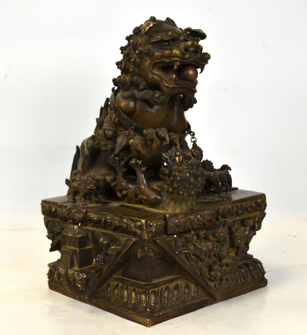 Large Chinese Bronze Lion Seals