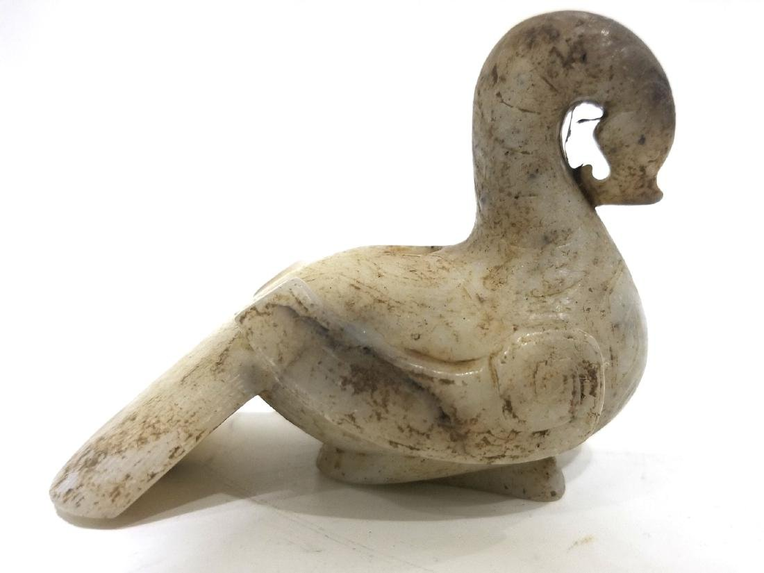 Chinese Archaic Jade Figure of Goose