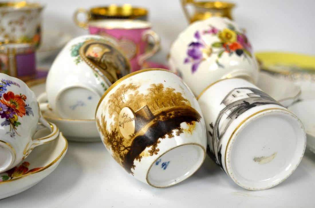 18/19th C. 39 Pcs of Porcelain Cups & Saucers - 10