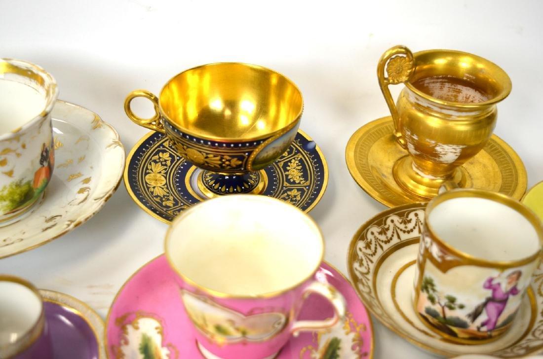 18/19th C. 39 Pcs of Porcelain Cups & Saucers - 3