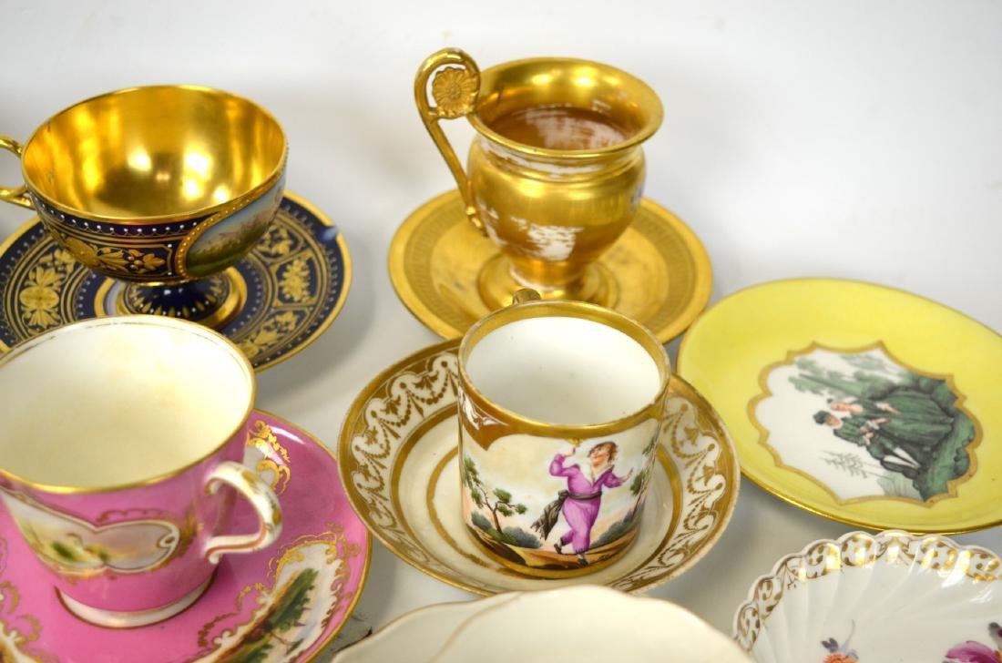 18/19th C. 39 Pcs of Porcelain Cups & Saucers - 4
