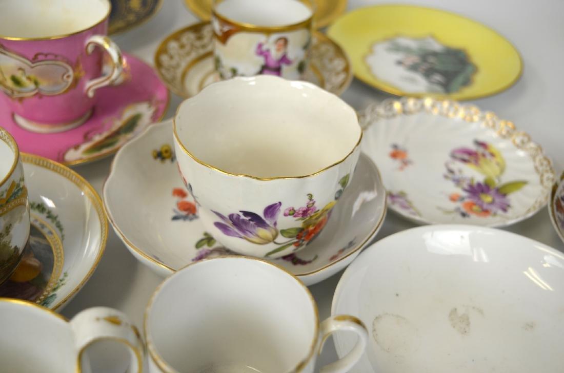 18/19th C. 39 Pcs of Porcelain Cups & Saucers - 5