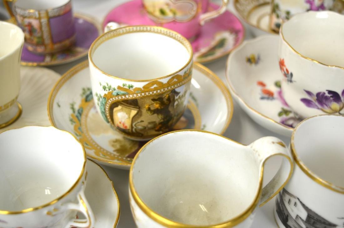 18/19th C. 39 Pcs of Porcelain Cups & Saucers - 6