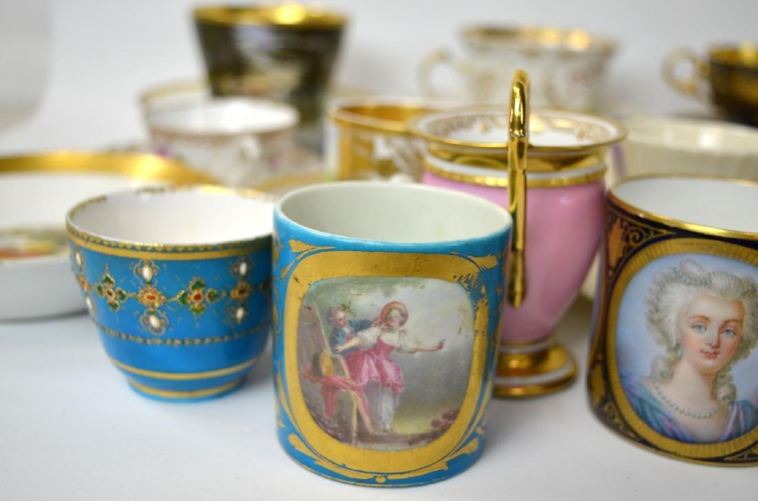 18/19th C. 39 Pcs of Porcelain Cups & Saucers - 7