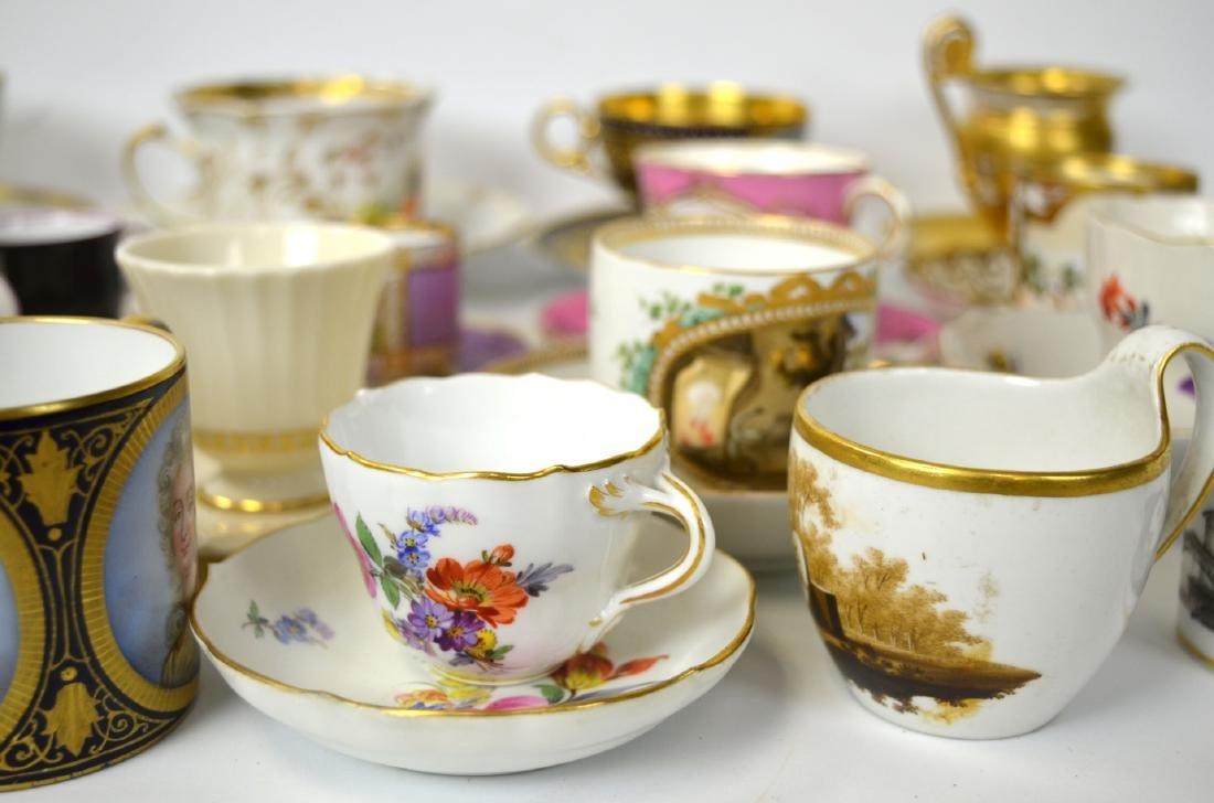 18/19th C. 39 Pcs of Porcelain Cups & Saucers - 8