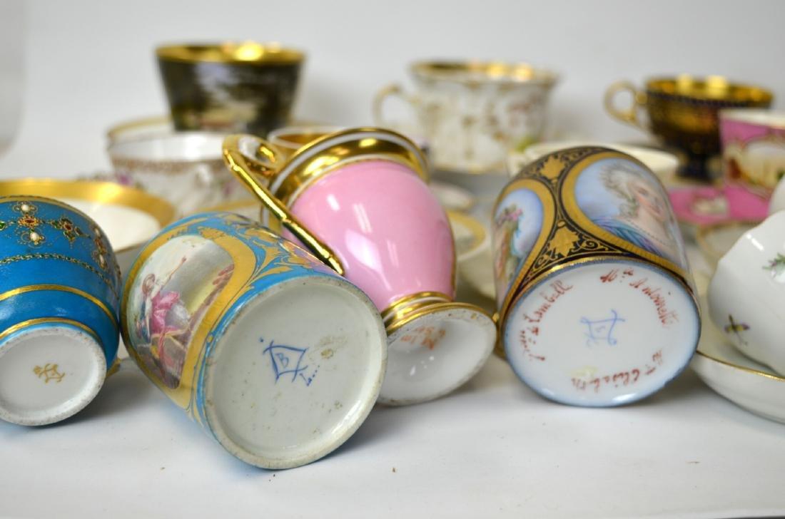18/19th C. 39 Pcs of Porcelain Cups & Saucers - 9