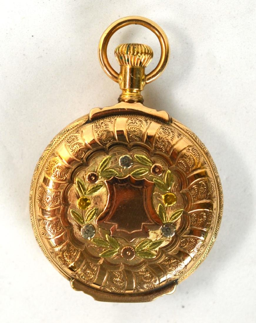 14K Three Color Gold Pocket Watch