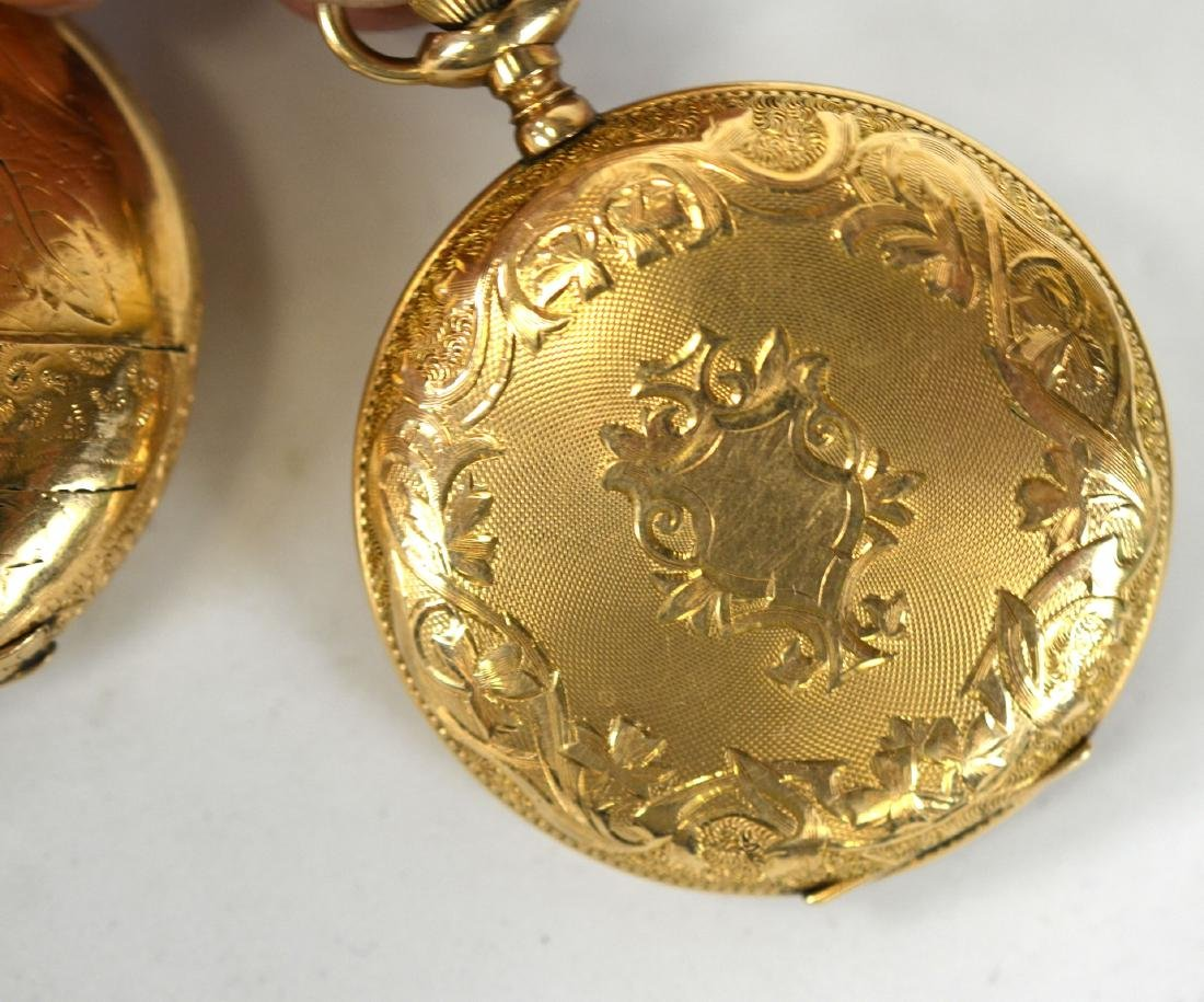 Two Gold Plated Pocket Watches - 2
