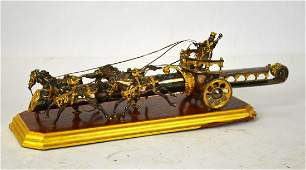 A Yossi Swed Partial Gilt Silver Chariot & Dag