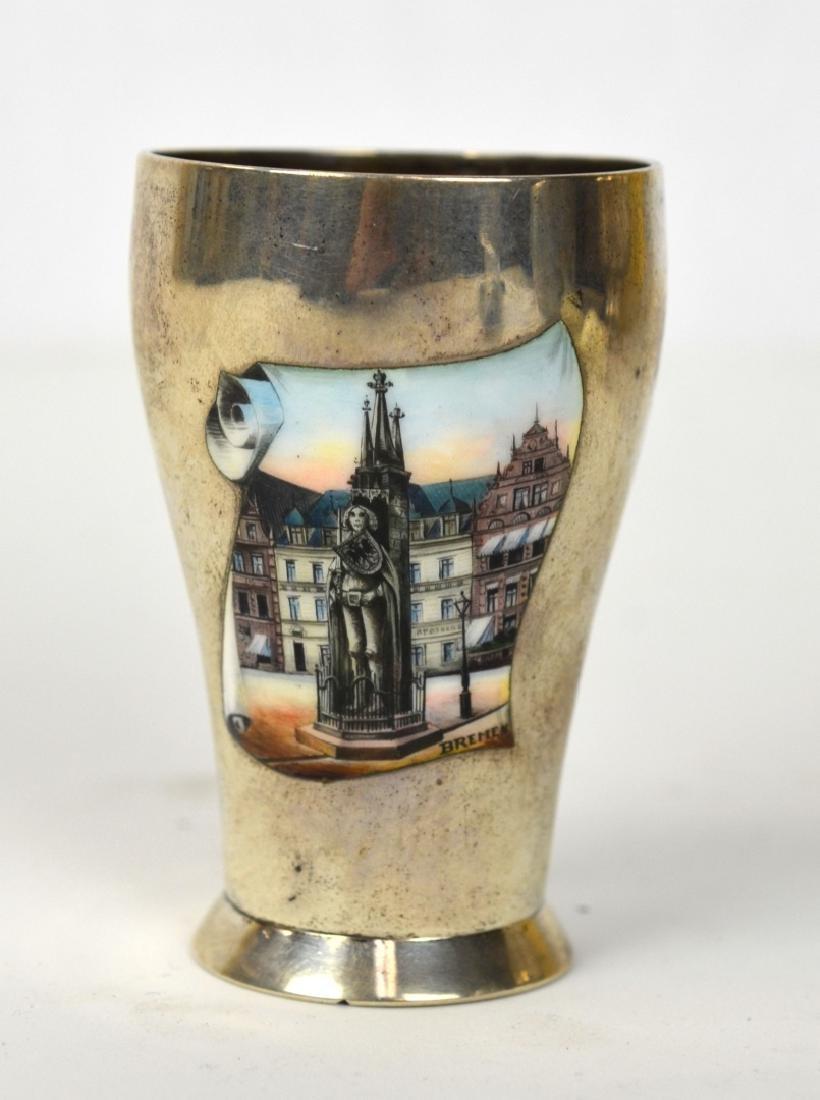 Sterling Silver Enamel Cup