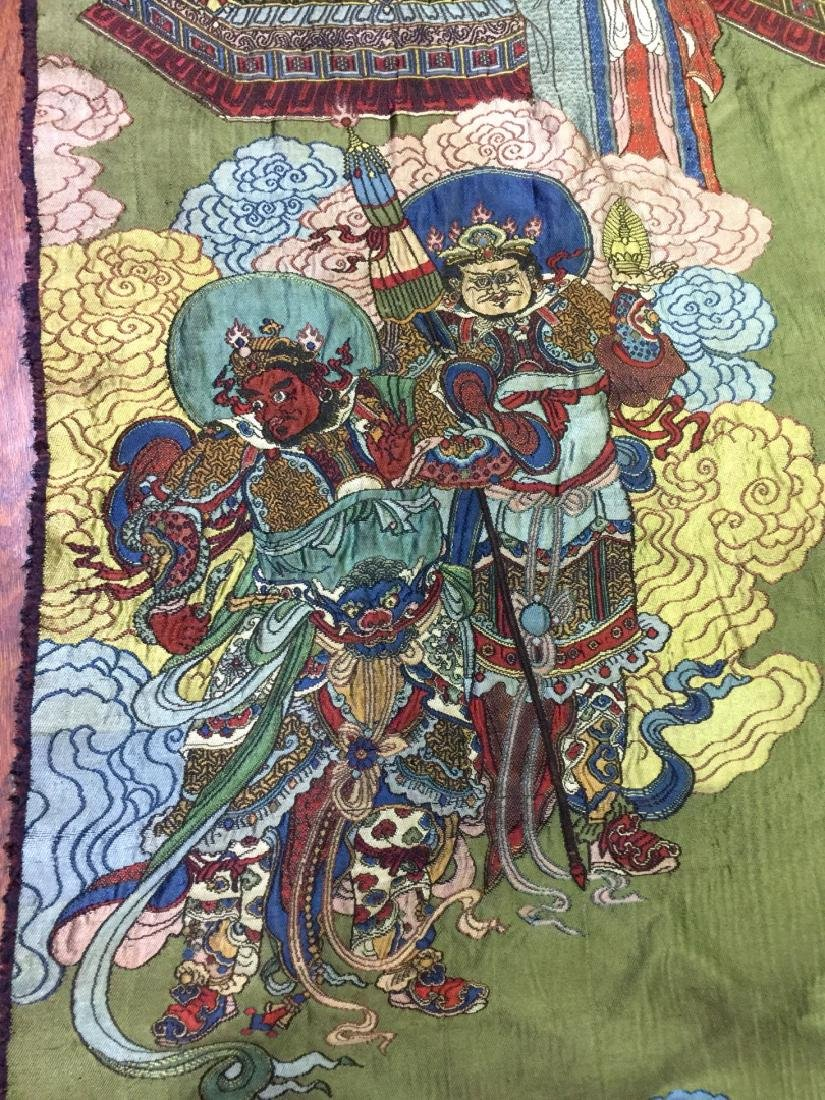 Large Chinese Silk Embroidered Thangka - 6
