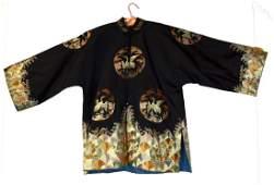 Chinese Lady Silk Crane Robe