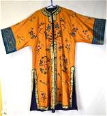Chinese Orange Embroidered Robe