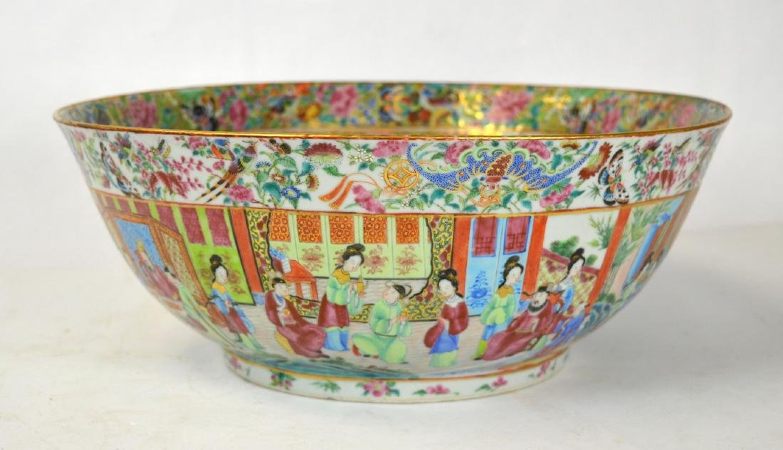 Large Chinese Rose Medallion Bowl