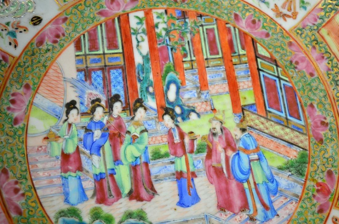 Large Chinese Rose Medallion Bowl - 3