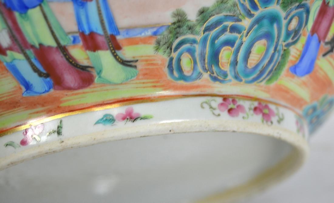 Large Chinese Rose Medallion Bowl - 5