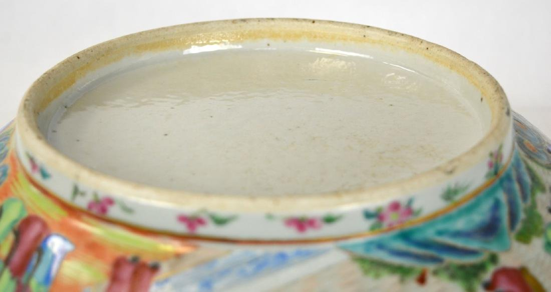 Large Chinese Rose Medallion Bowl - 6