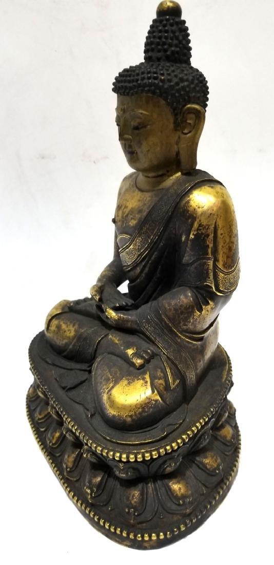 Chinese Gilt Bronze Buddha Figure - 2