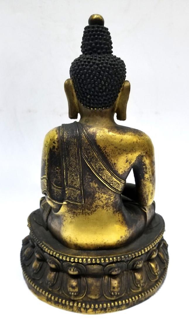 Chinese Gilt Bronze Buddha Figure - 3
