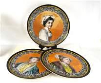Three Large Italian Portrait Plates