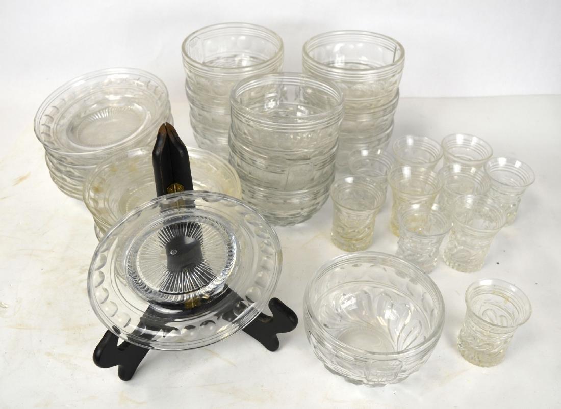 Set of Ten English Cut Crystal Pieces