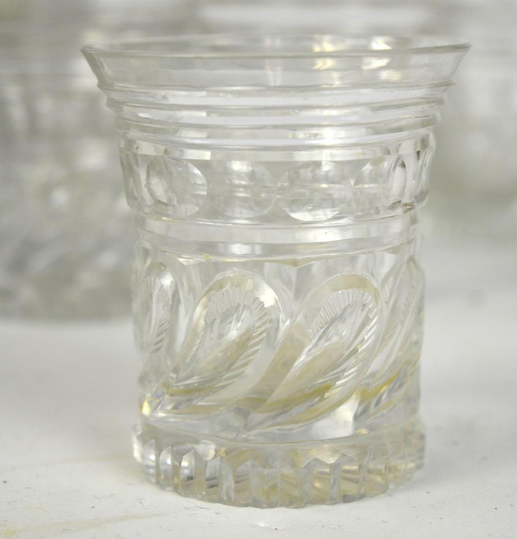 Set of Ten English Cut Crystal Pieces - 7
