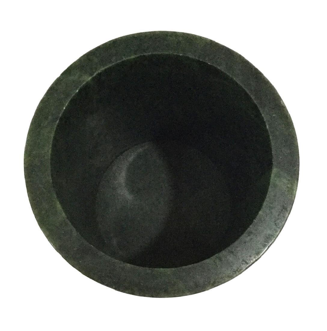 Chinese Spinach Jade Brush Pot - 3