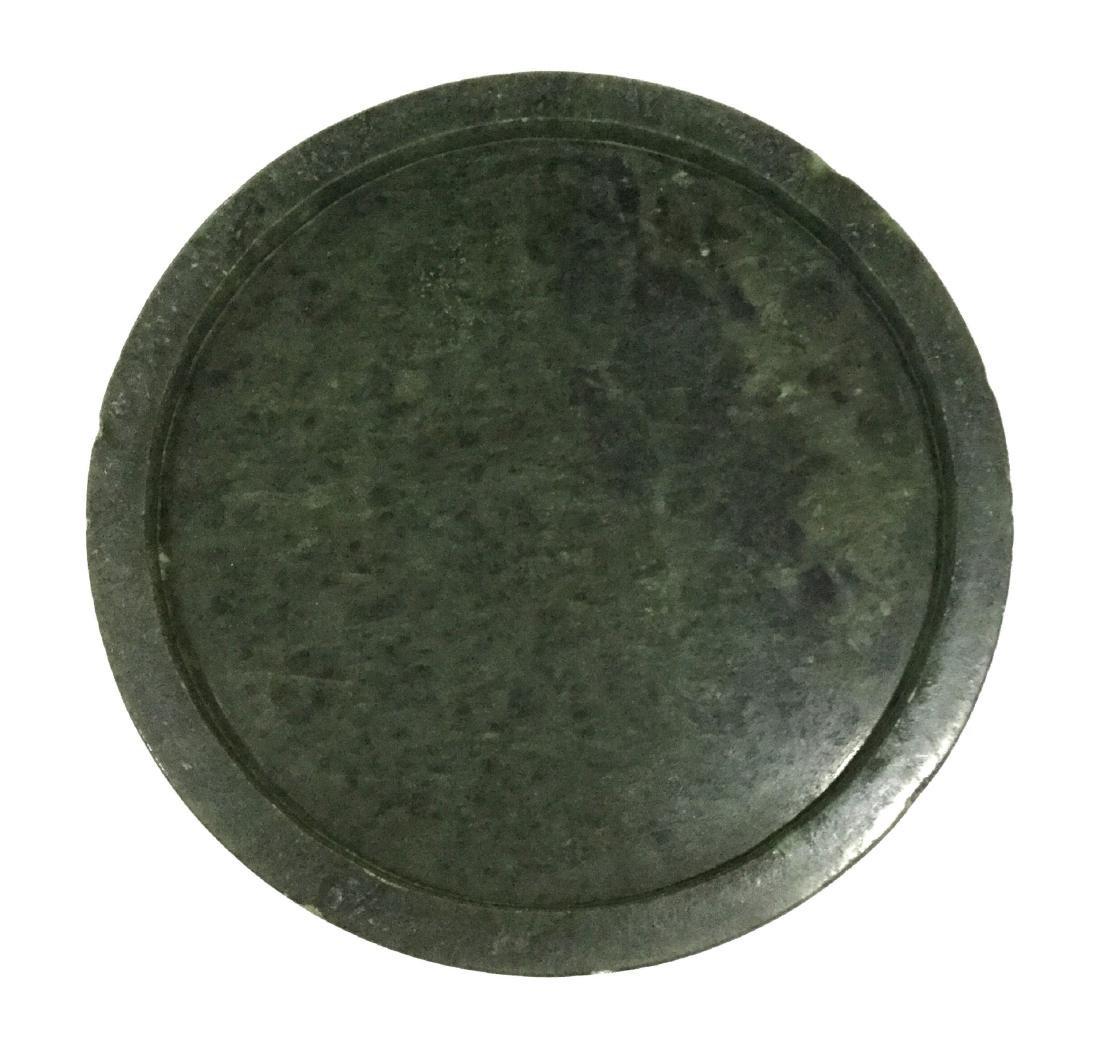 Chinese Spinach Jade Brush Pot - 4