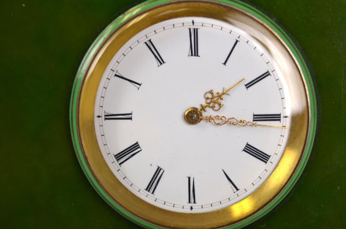 Spinach Jade Silver Enamel Clock - 2