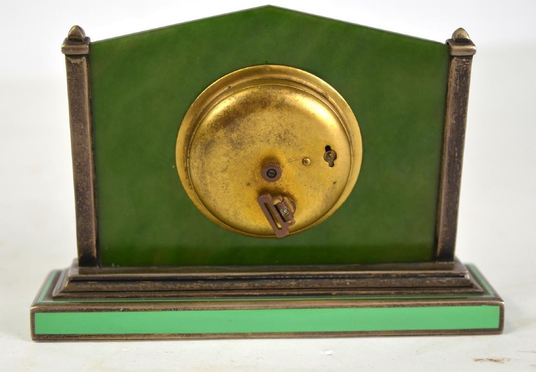 Spinach Jade Silver Enamel Clock - 5