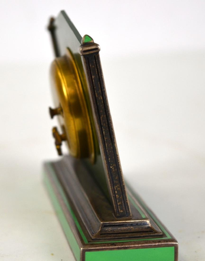 Spinach Jade Silver Enamel Clock - 6