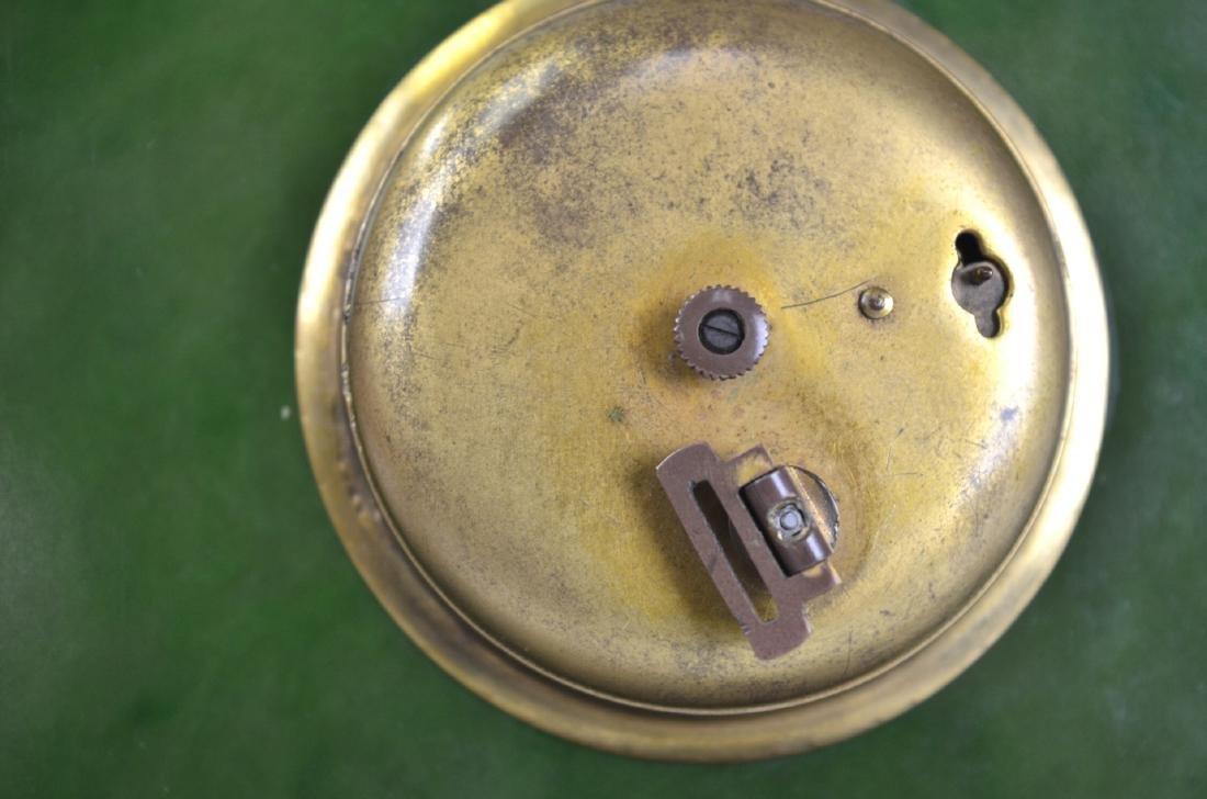 Spinach Jade Silver Enamel Clock - 7