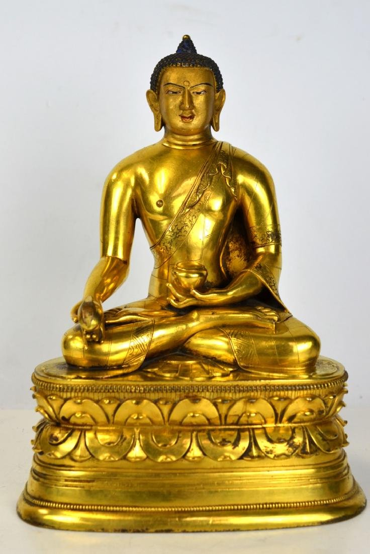 Chinese Bronze Gilt Buddha Figure