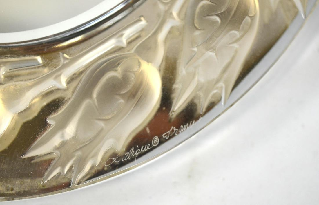 Lalique Silver & Crystal Mirror Signed - 5