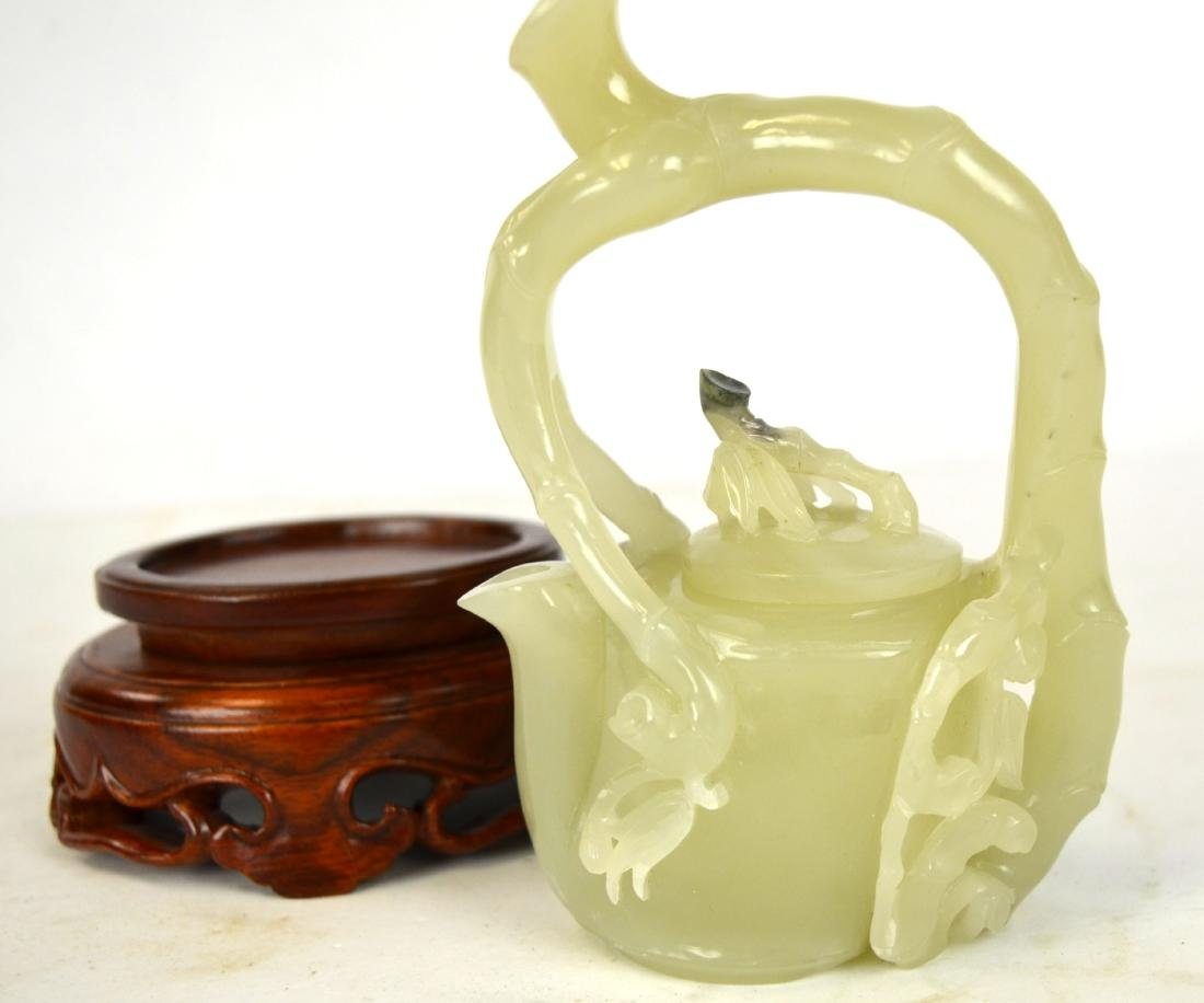 Chinese Carved Chinese Jade Teapot - 2