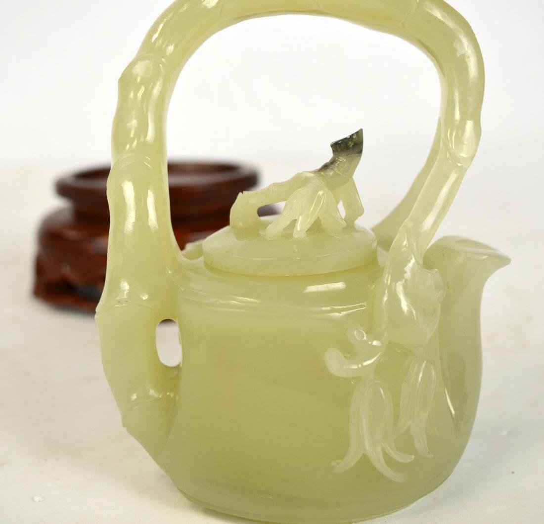 Chinese Carved Chinese Jade Teapot - 4