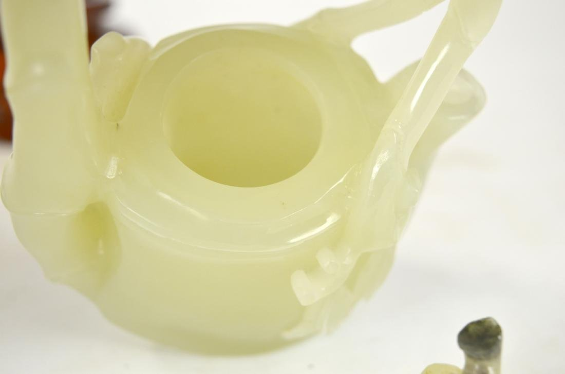 Chinese Carved Chinese Jade Teapot - 7
