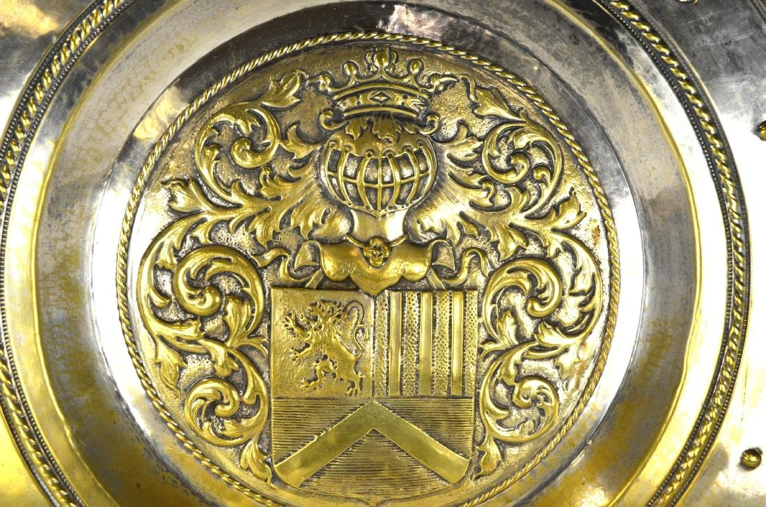 Large Silver Plated Armorial Charger - 2