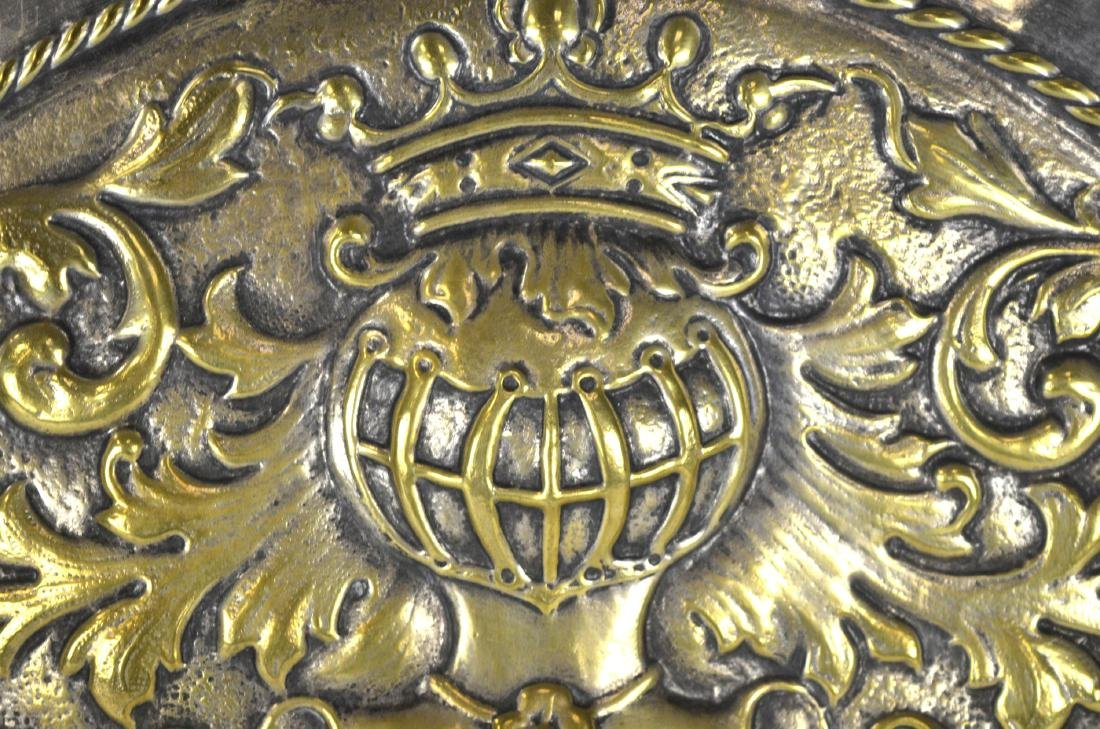 Large Silver Plated Armorial Charger - 4