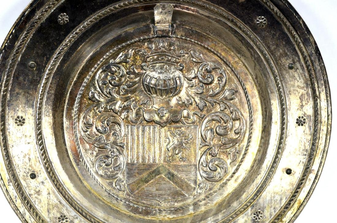 Large Silver Plated Armorial Charger - 7