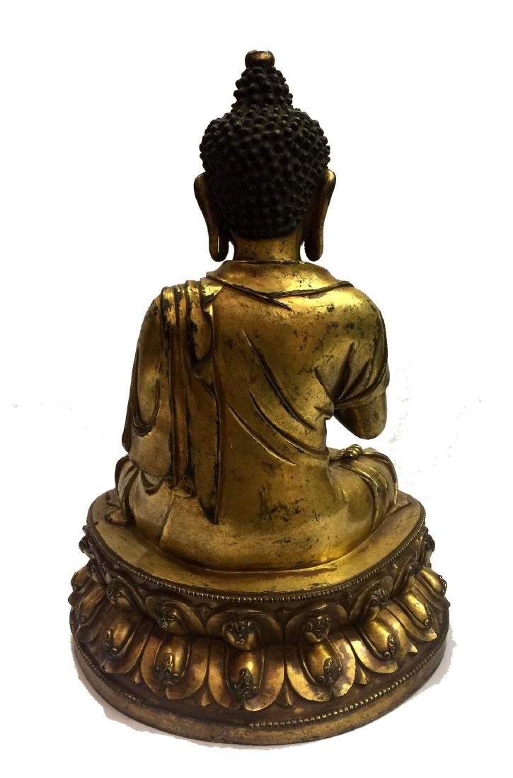 Chinese Gilt Bronze Buddha Figure - 2