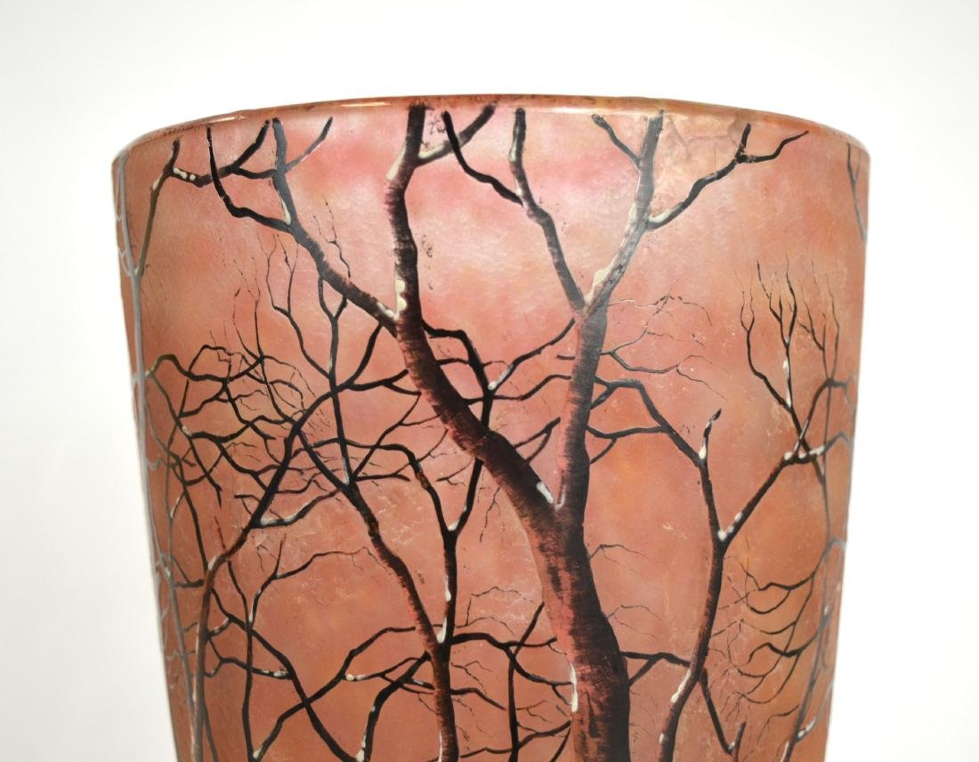 Daum Nancy Art Glass Vase - 4