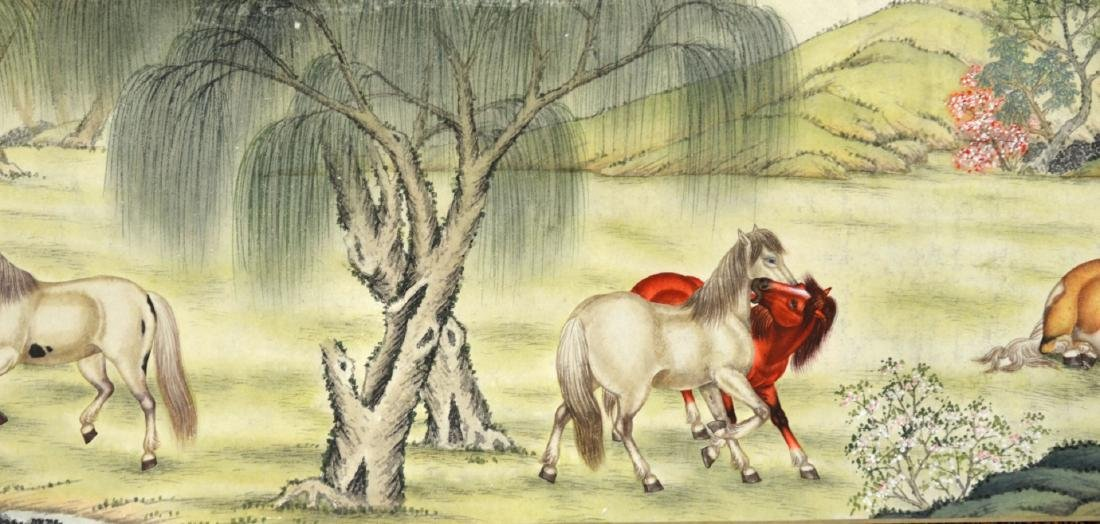 Chinese Painting Scroll (Horses) - 4